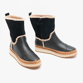 TOMS Makenna Ladies Leather Boots Black