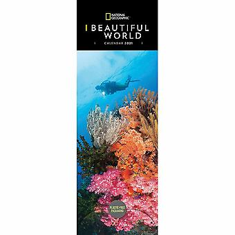 Otter House 2021 Slim Calendar-beautiful World