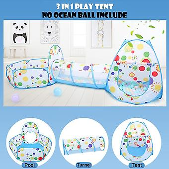 3 In 1 Ocean Balls Pools Baby Toys Ball Pit With Tent Tunnel Basket Indoor Toys For Toddlers