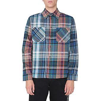 Off-white Omga133e20fab0014510 Män's Multicolor Cotton Skjorta