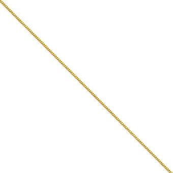 14k Yellow Gold Solid Polished 1.5mm Franco Chain Necklace Lobster Claw Jewelry Gifts for Women - Length: 16 to 30