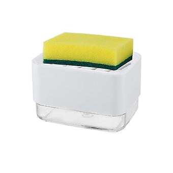 Soap Pump Dispenser With Sponge Holder, Liquid Dispenser Container, Hand Press