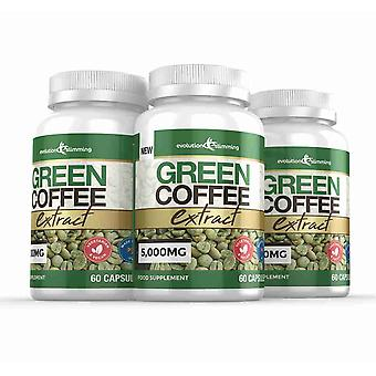 Green Coffee Bean Extract 5,000mg - 180 Capsules - Fat Burner - Evolution Slimming