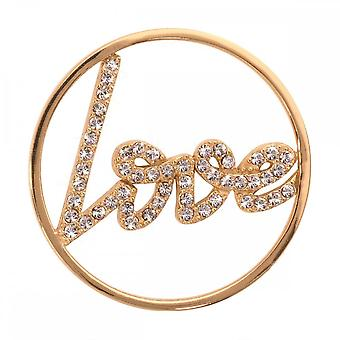 Nikki Lissoni Sparkling Love Medium Gold Plated Coin C1003GM