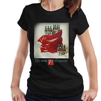 7up Navidad Saco Cartel Diseño Mujeres's Camiseta