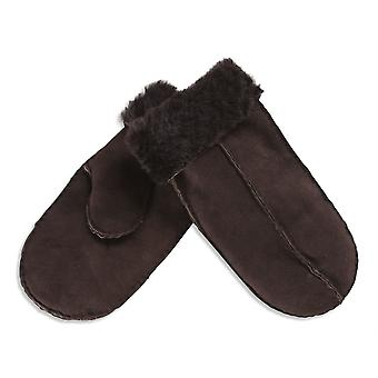 Nordvek Mens Sheepskin Mittens - Split Palm Suede Winter Gloves # 312-100