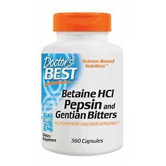 Doctors Best Betaine HCl Pepsin & Gentian Bitters, 360 Caps