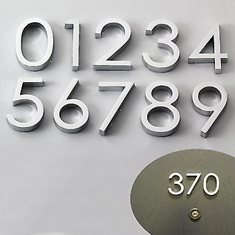 3d Numeral Door Plaque House Drawer Sign Plating, Gate Digits 0 To 9 Plastic