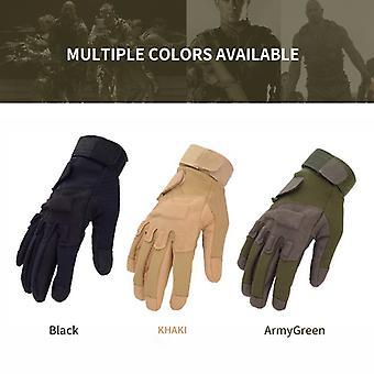Winter Sport Handsker Mænd's Udendørs Militære Handsker Full Finger Army Taktisk Vanter Wear-resistente Ridning Handsker