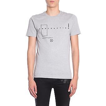Diesel Black Gold 00sfgtbgtih9bs Men's Grey Cotton T-shirt