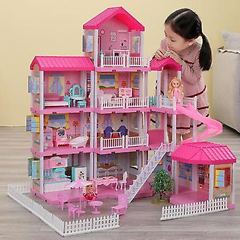 Princess Castle Set- Dollhouse Model, Play House Toy