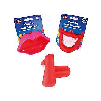 RSW International Vinyl Lips Dog Toy WP663