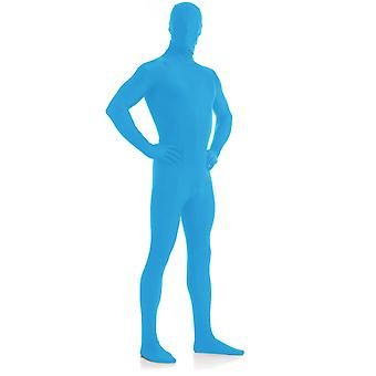 AltSkin Adult/Kids Full Body Stretch Fabric Zentai Suit - Zippered Back One Piece Stretch Suit Costume - Pacific Blue