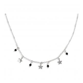 Rhodié Pampille Silver Necklace With Enamelball And Star 40-5cm