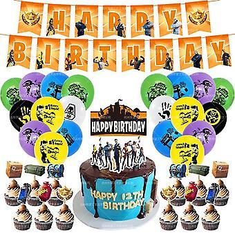 Game Balloons Black Gamepad, Birthday Party Decorations Kid Match Prop Balloon