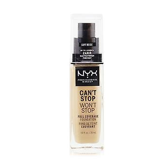 NYX Can't Stop Won't Stop Full Coverage Foundation - # Soft Beige 30ml/1oz