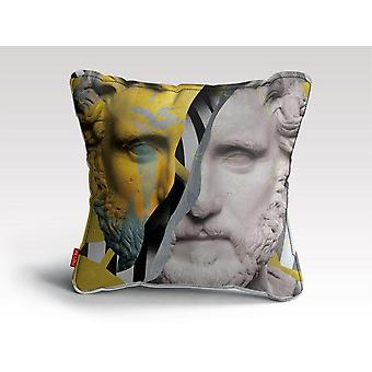 Colourful past cushion/pillow