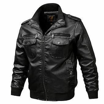 New Brand Jacket Punk Multi Design Style Motorcycle Biker Men Leather