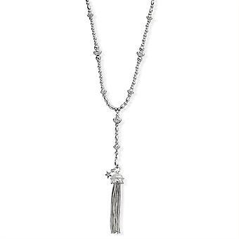 ChloBo SNF487 furchtlose Halskette mit Quaste Anhänger