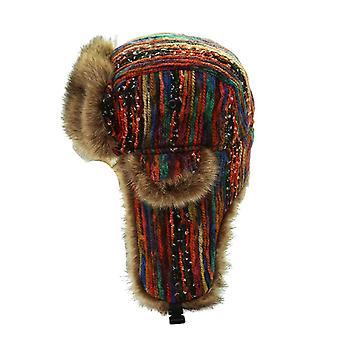 قبعات أوشانكا الروسية مع الثلوج Windproof Earflap سميكة قبعات الفراء الشتاء الدافئ