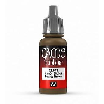 Vallejo Game Color 17ml Acrylic Paint 43 Beasty brown