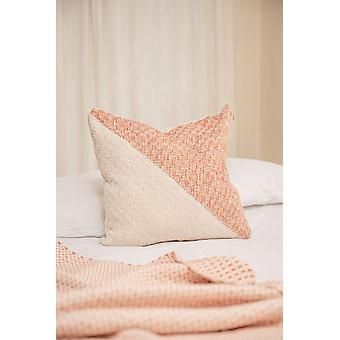 Diagonal Basic Guayaba Pink + Cream Pillow