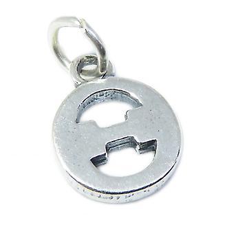 Theta Griechisches Alphabet Sterling Silber Charm .925 X 1 Buchstaben Charms - 8498