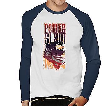 King Kong Vs T Rex Power Slam Men's Baseball Long Sleeved T-Shirt