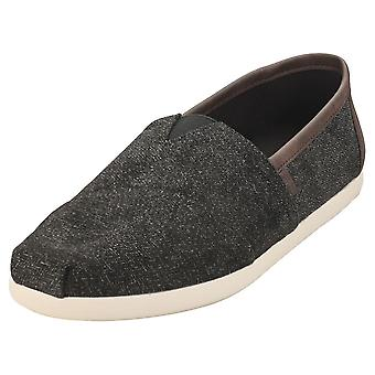 Toms Alpargata Herringbone Mens Slip On Shoes in Charcoal