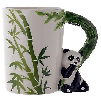 Tazza giungla in ceramica con maniglia panda e bambù