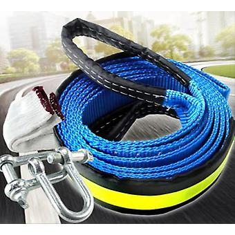 8t 5m Tow Towing Pull Rope Strap Heavy Duty Road Recovery Car Van 5x5