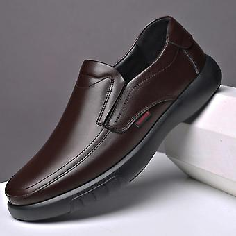 Men's Genuine Leather Soft Anti-slip Rubber Loafers Shoe