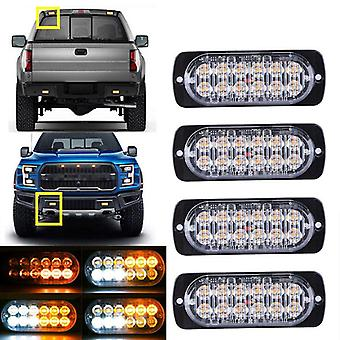 12-24v Warning Strobe Light 12 Led Emergency Strobe Light Bar Hazard Beacon