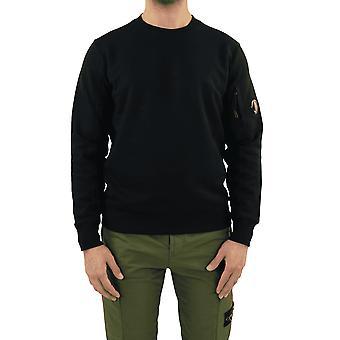C.P.Company Sweatshirts - Crew Neck Black 10CMSS045005086W999 Top