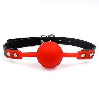 Adult Games Mouth Gag Silicone Ball Oral Fixation Pu Leather Band Bondage