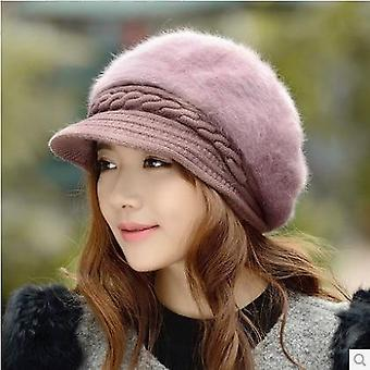 New Style Rabbit Hair Knitted Retro Berets Autumn/winter Warm Cap