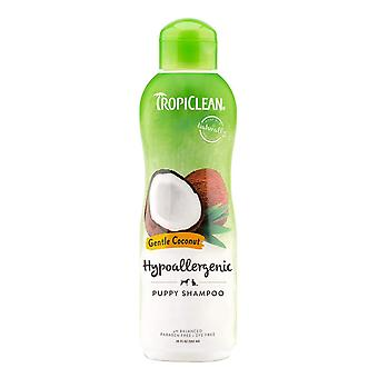 <p>TropiClean Gentle Coconut Pet Shampoo is mild enough for puppies, kittens and pets with allergies.</p> <br/> <p>Coconut gently cleanses your pet�s coat while aloe replenishes skin�s moisture for a fresh, healthy clean.</p> <br/> <p>Bath-time is gentle and easy with our simple, natural ingredients that keep your pet clean, tear-free, and oh-so-snuggly.</p> <br/> <p>For dogs and cats of all ages (and safe for their humans, too).</p>