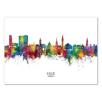 Kunstplakat - Lille France Skyline - Michael Tompsett
