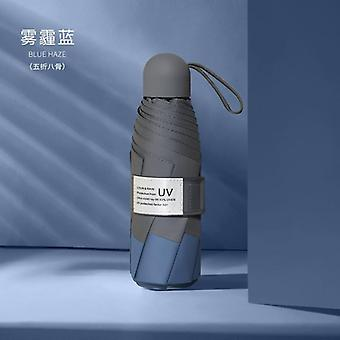 8 Ribs Mini Windproof Anti-uv Protection Folding Umbrella Portable Travel Rain