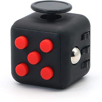 Fidget Cube dla lepszej koncentracji Czarny / Czerwony