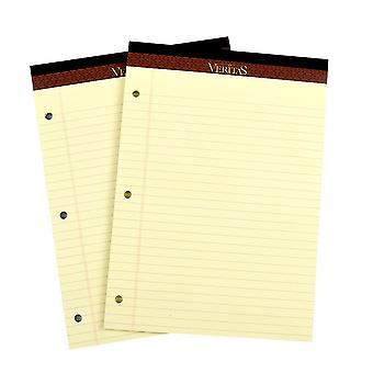 2 thick A4 horizontal line notebooks, 3-hole loose-leaf notebook diary replacement draft paper