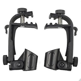 Adjustable Clip Rim Shock Mount Microphone Clamp Holder Adjustable (black)