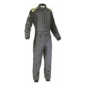 Racing Jumpsuit OMP First Evo Anthrazit Gelb (Größe 44)