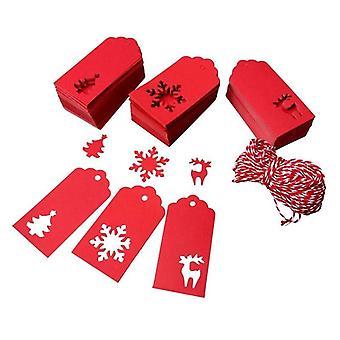 Christmas Paper Tags For Red Reindeer, Christmas Tree Snowman Christmas Tags
