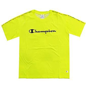 بطل معرض الرسوم البيانية الموسمية مسجل Crewneck تي شيرت، الفلورسنت الأصفر، S المرأة(2)