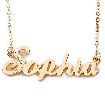 KL Sophia - 18 Karat vergoldet Halskette, mit anpassbarem Namen, Einstellbare Kette 16-19 cm, in Geschenkverpackung(2)