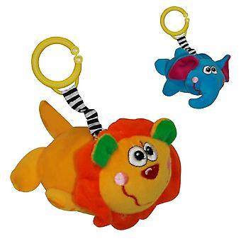 Lorelli Baby Plush Toy Jungle, Rattle, Vibración, Juguete Relleno con Anillo C, 12 cm