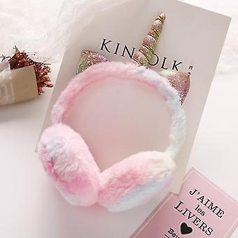 Winter Plush Unicorn Earmuffs Headband