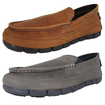 Crocs Męski Stretch Sole Skórzane buty mokasynowe