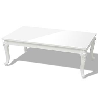 vidaXL Table basse 115×65×42 cm brillant blanc